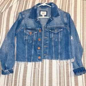 Distressed Cropped JEAN JACKET